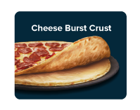 Two crunchy thin crusts with a layer of creamy cheddar cheese sauce in between.