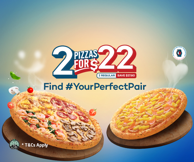 Online Order Best Pizza Fast Food Delivery At Domino S Singapore